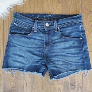 Levi's boyfriend skinny fit cut off jean shorts